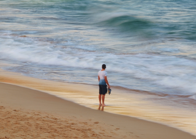 Contemplation at the Shoreline