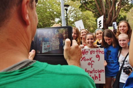 Newtown High School Girls #marchinmarch