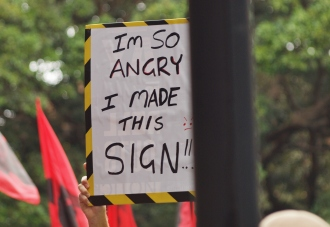 I'm so angry I made this sign #marchinmarch