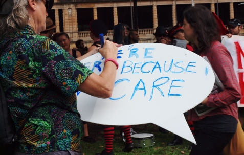 We're here because we care #marchinmarch