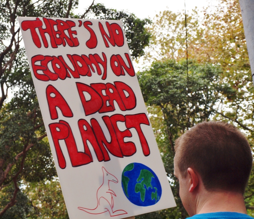 There's no economy on a dead planet #marchinmarch