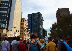 Sydney in the street to protest #marchinmarch