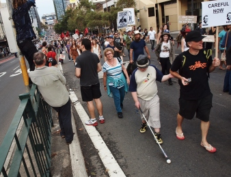 Protesters in Sydney #marchinmarch