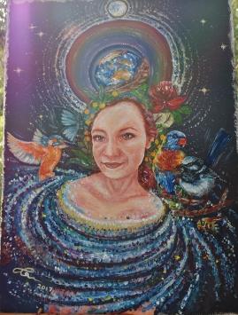 Earth Soul Portrait Hornsby Artist Acrylic Painting